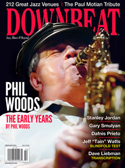 Downbeat Feb 2012 Cover with Phil Woods